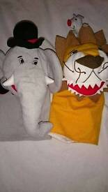 2x hand puppets