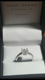 Diamond Engagment Ring - Handmade by James Brown Glasgow - £900.00 ovno