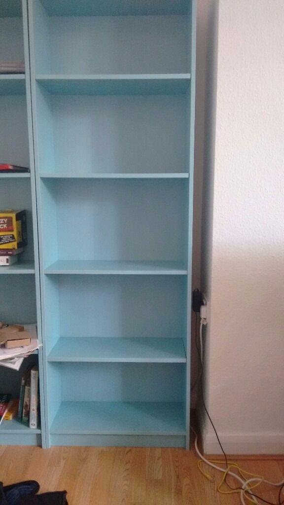 blue ikea finnby bookcase 60x180x24cm cm in finsbury