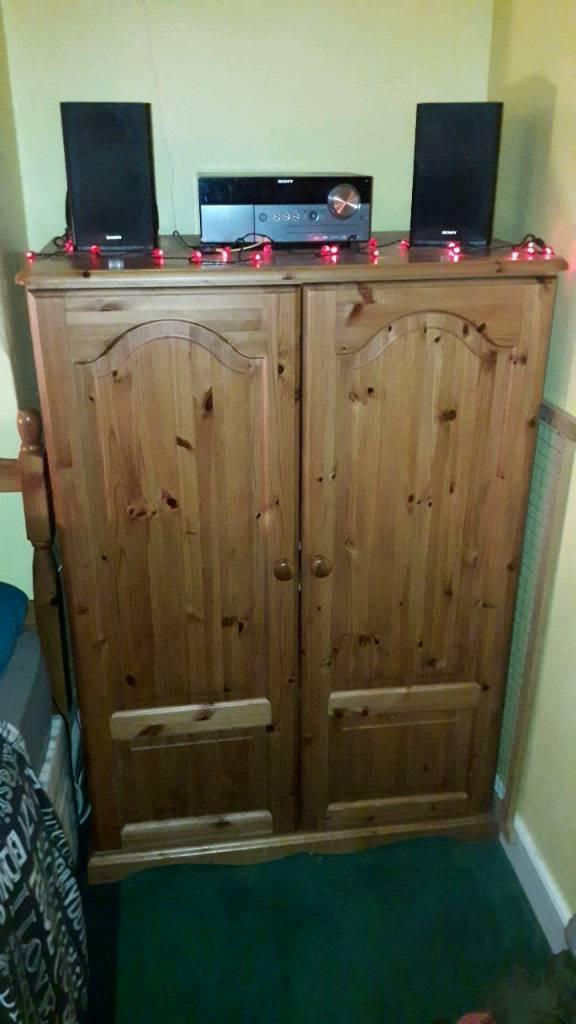 Solid Wood Enclosed Computer Desk Cabinet