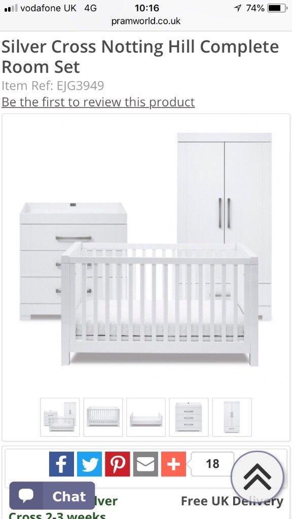 Silver Cross Nursery Furniture Set Rrp 1200