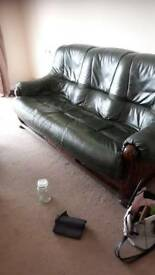 Free leather settee