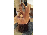 Carved Tree Root / Solid Tree Trunk Unique Wooden Chair