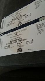 U2 TICKETS FOR MANCHESTER ARENA 19/10/18