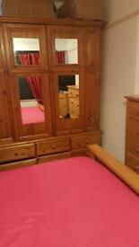 Solid oak large wardrobe