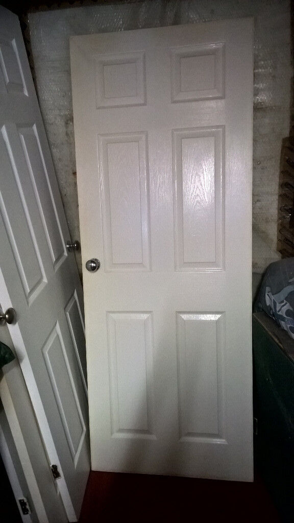 4 Six Panel White Internal Doors With Furniture Free If Collected