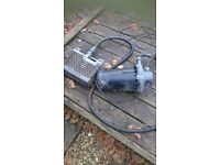 Garden pond pump and filter...both perfect working condition