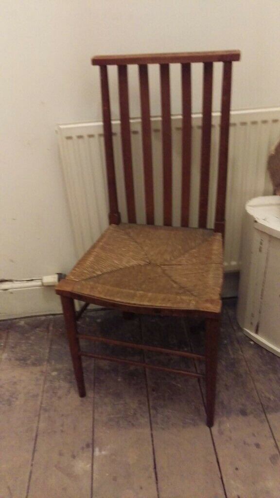 Arts Crafts Wooden Dining Chair With Rush Seat In Redcliffe Bristol Gumtree