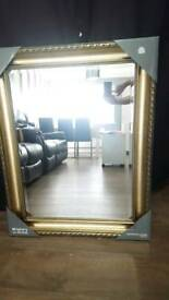 Gold decorative framed mirror