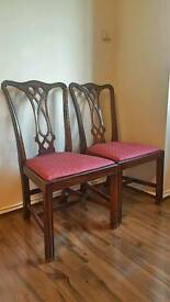2 Vintage Antique Chairs + 1 Chair. 3 chairs for the price of 2.