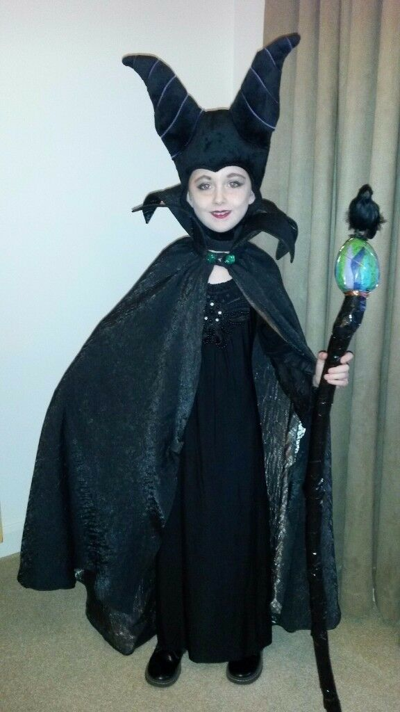 kids halloween maleficent fancy dress costume