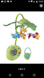 Fisher Price Rainforest Peek-a-Boo Leaves Musical Mobile.