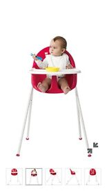 Mothercare MyHi highchair in watermelon x2