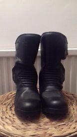 Richa Aqua II Ladies Leather Motorcycle Boots Size 7/42