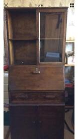 Wooden bureau cabinet