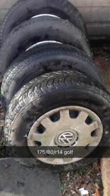 VW GOLF / JETTA WHEELS mint TYRES