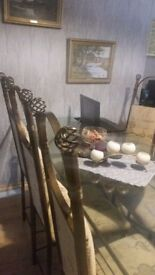 TABLE AND 6 CHAIRS SET ( COULD BE 8)