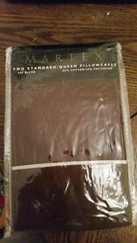 Queen size brown pillow cases never used