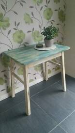 Wooden breakfast table shabby chic, refurbished