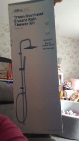 Overhead square shower kit
