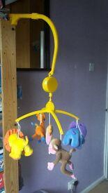 musical cot animal mobile