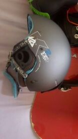 Snowboard bindings 9.5 size boots new helmet