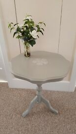 Circular coffee / side / occasional /wine table on tripod legs finished in 'Annie Sloan' chalk paint