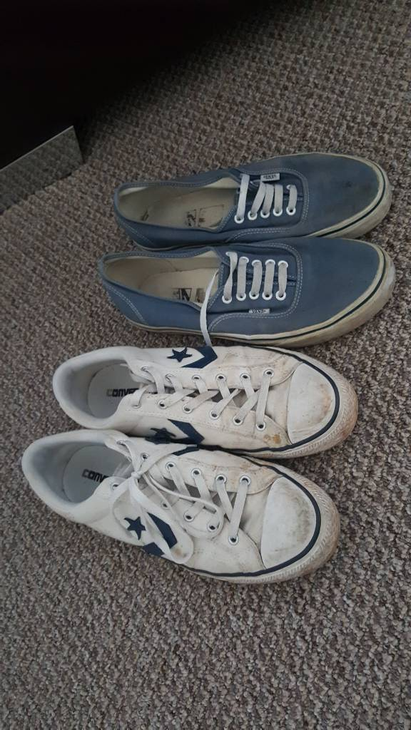 09d1c937bbc0 Converse and Vans Size 10. Plymouth ...
