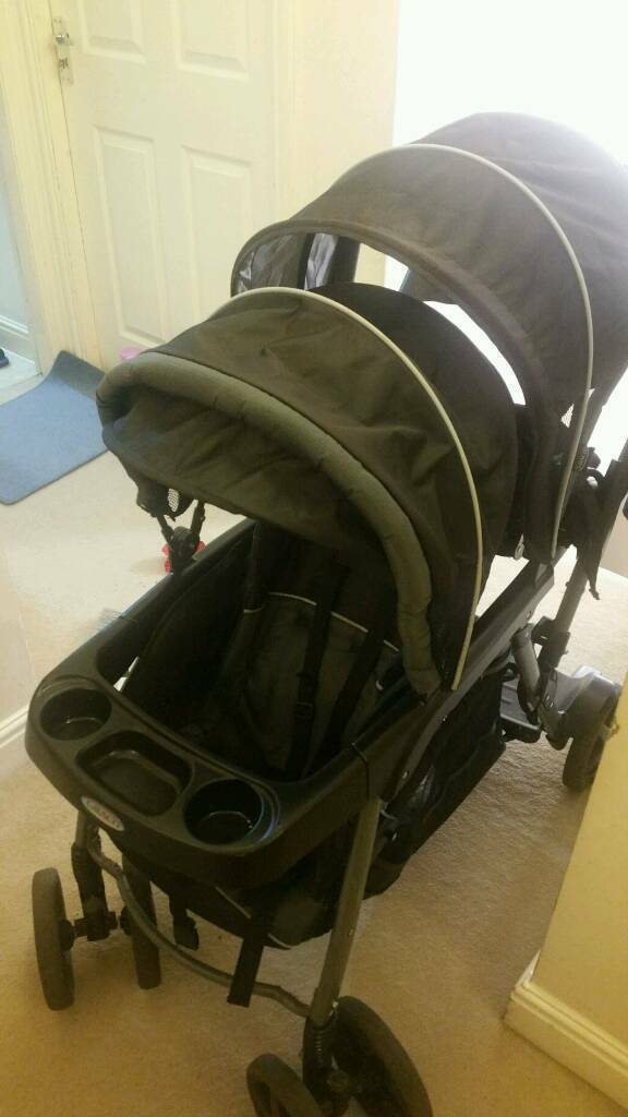 graco double pram with rain coverin Cheetham Hill, ManchesterGumtree - excellent condition. ...... removable second seat.... with standing board.... comes from pet n smoke free home