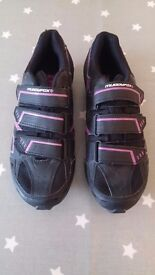 Muddy Fox Cycling / Spinning Shoes - With SPD Cleats - Size 6UK / 39.5EU - Excellent Condition