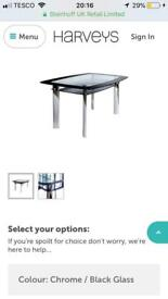 Glass dining table table only