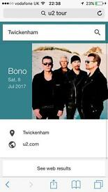 U2 tickets twickenham