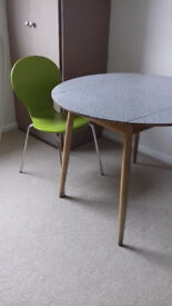 Retro circular formica-topped genuine 1960s table