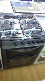 LOGIK Grey gas COOKER 50cm graded
