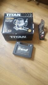 New TITAN router and 6pc trend router cutter set (and a wood plane)