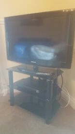 Samsung 32inch TV, free view HD recorder and stand
