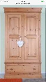 Solid wood wardrobes cost £800