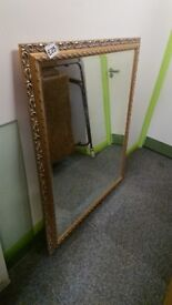 Large mirror with bevel frame