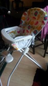 Baby's high chair with tray