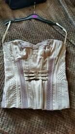 Karen Millen corset 95% natural silk size 8 Ex.Cond.