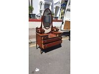 Antique Victorian Solid Satinwood Dressing Chest Table