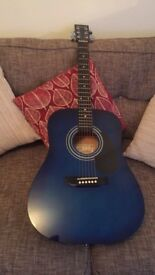Blue Encore Acoustic Guitar
