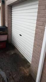 Garage white roller door