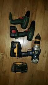 3 drills hammer drill works other 2 spairs or repair