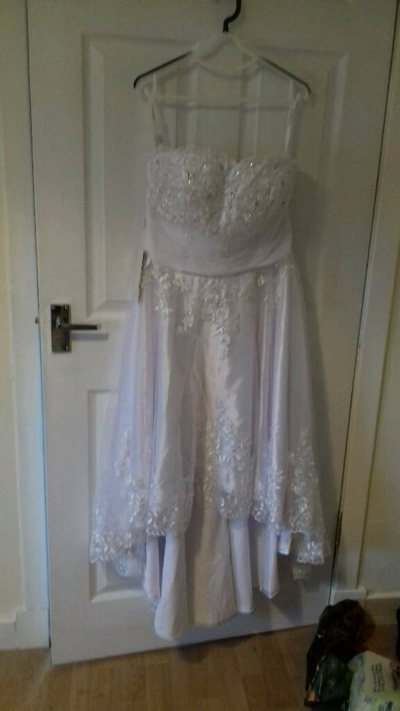 ONLY £50.00brand new size 14 tea length wedding dress