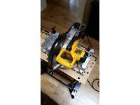 DeWalt DW703 230V CoMPound Mitre Saw 250MM Excellent Condition