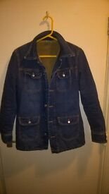 Diesel denim fur jacket immacolate