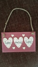HOME SWEET HOME - HANGING WALL DECOR