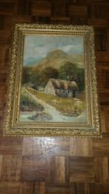 Old Painting of Cottage