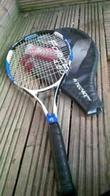 blue n black force 4.60 tennis racket